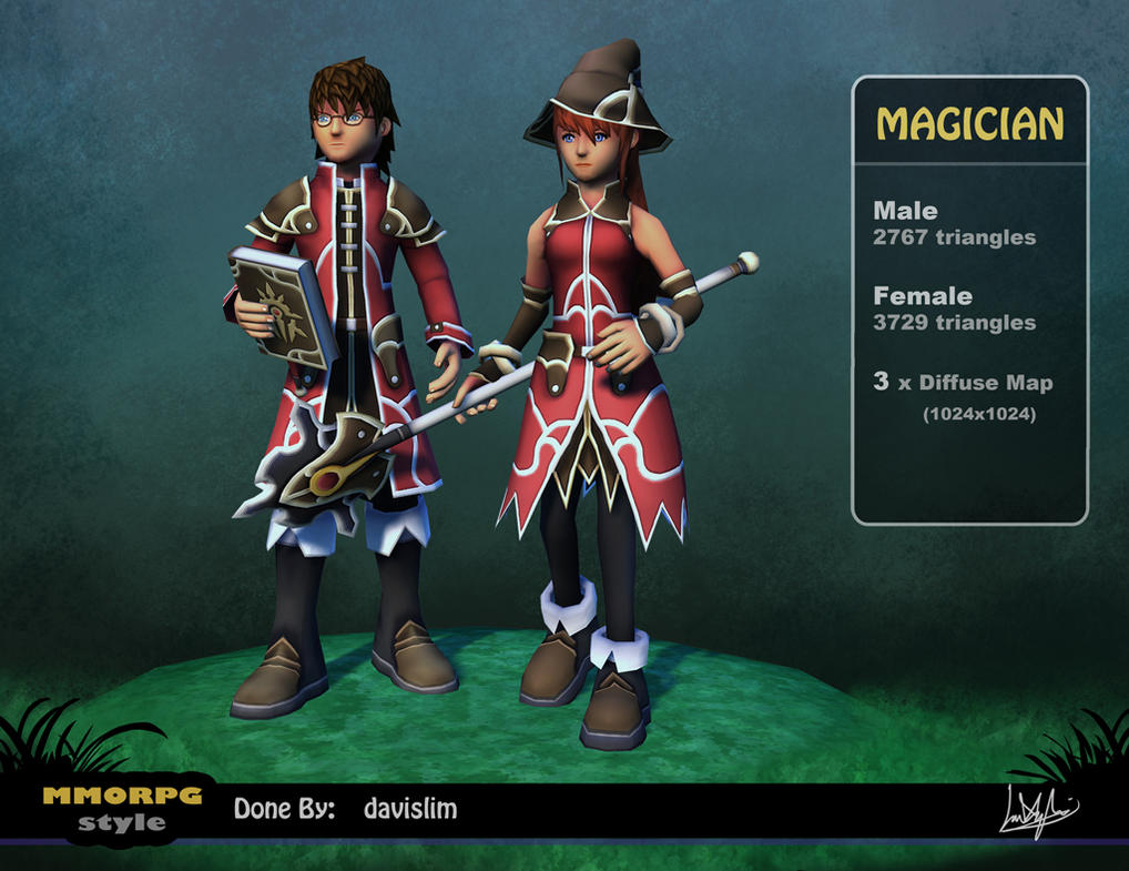 MMORPG Style - Magician Render by davislim