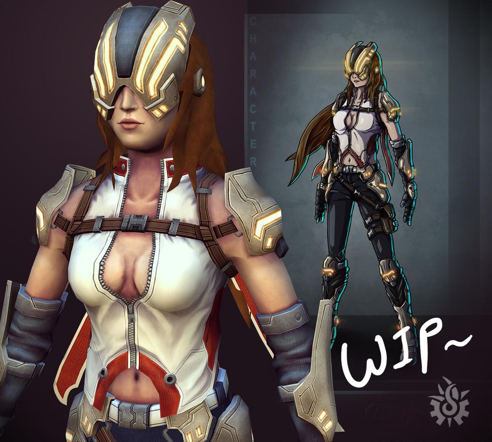Alicia Winters - 3D Wip1 by davislim