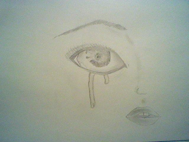 crying eye (realistic) by Nata-Chann