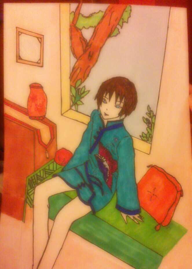 boy sat by the window... by Nata-Chann