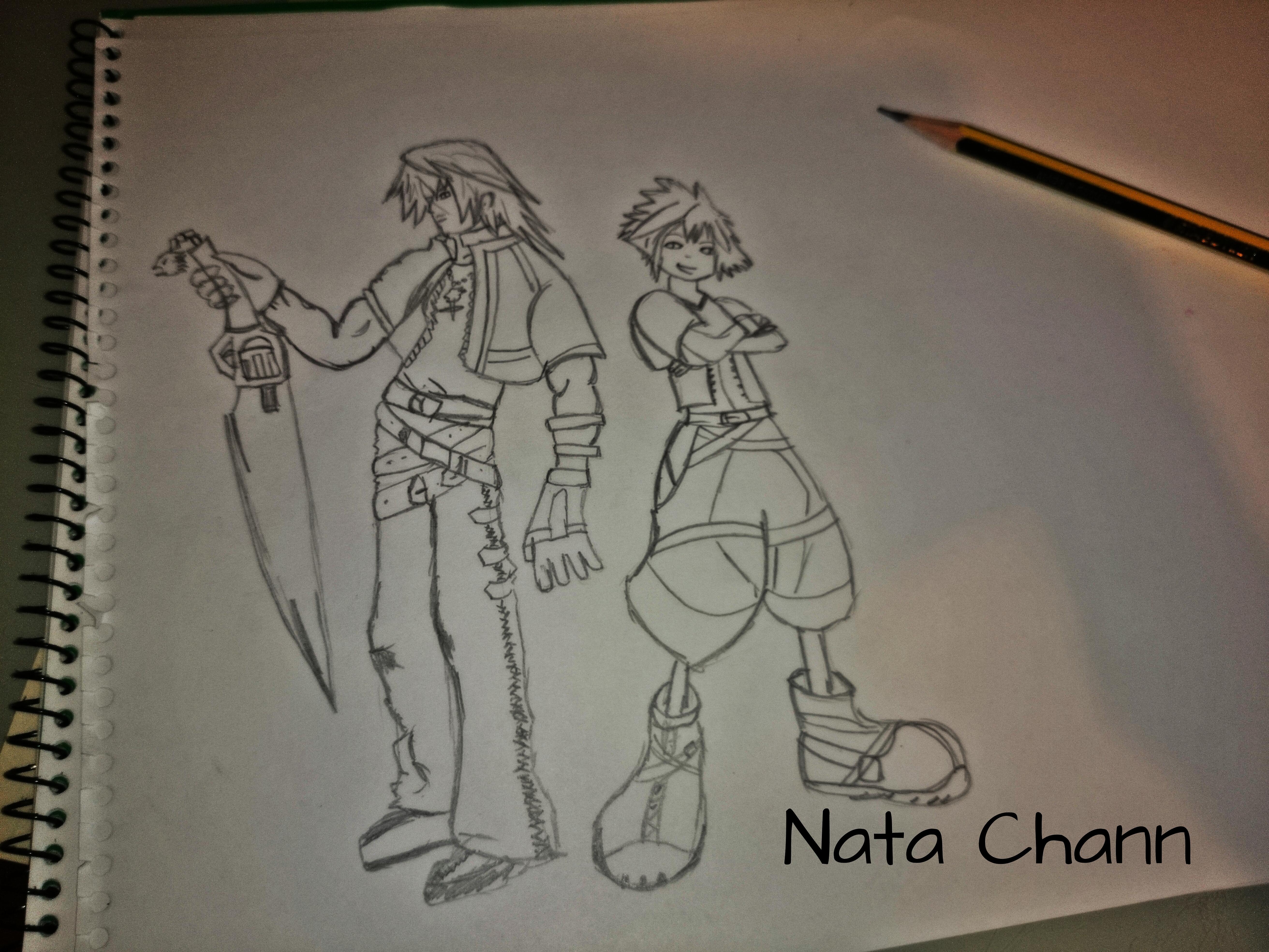 Squall and sora by Nata-Chann