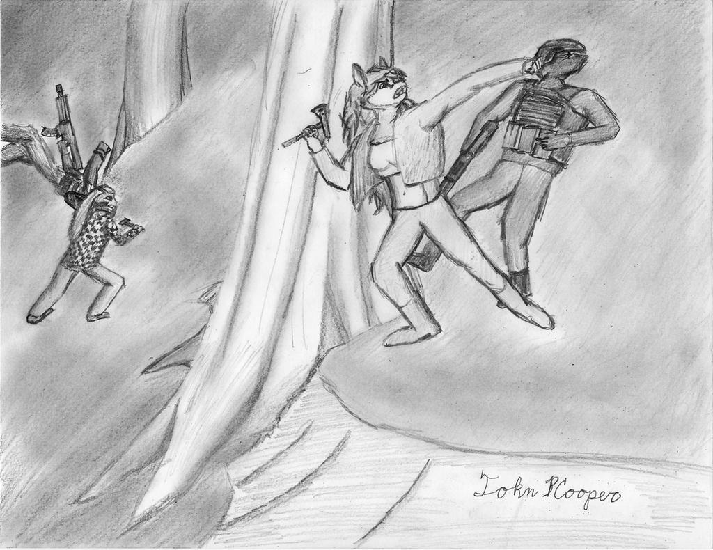 Sierra Carmelita Tag Team Forest Fight by JohnPCooper