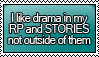 Anti-Drama RP and Stories Stamp by KisumiKitsune