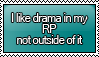 Anti-Drama RP Stamp by KisumiKitsune