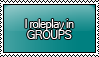 I Roleplay in GROUPS Stamp by KisumiKitsune