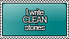 I Write CLEAN Stories Stamp by KisumiKitsune
