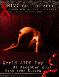 HIV GET TO ZERO POSTER by teghoune