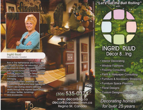 Ingrid Ruud Decor8ing brochure
