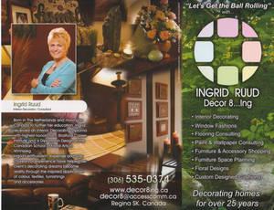 Ingrid Ruud Decor8ing brochure