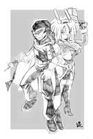 The Spectre And Coco Gunbun by RBComics25
