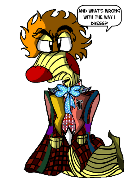 Mr Hand as The Sixth Doctor by ralphbear