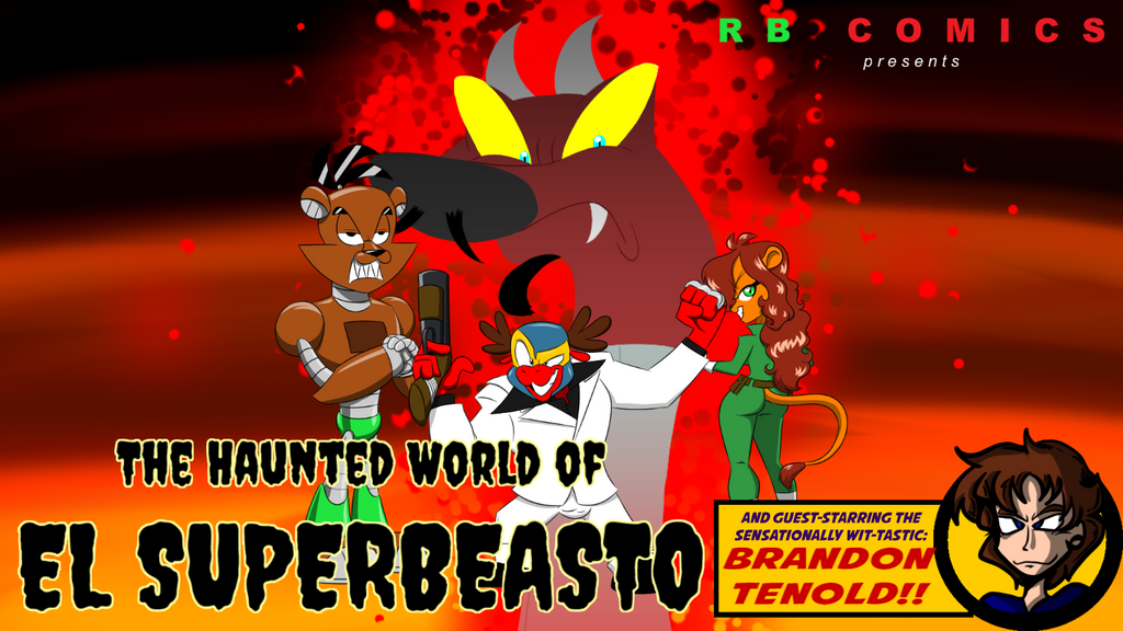 The Haunted World of El Superbeasto Title Card by ralphbear