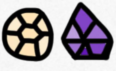 Peach Quartz and Purple Diamond (OPEN)
