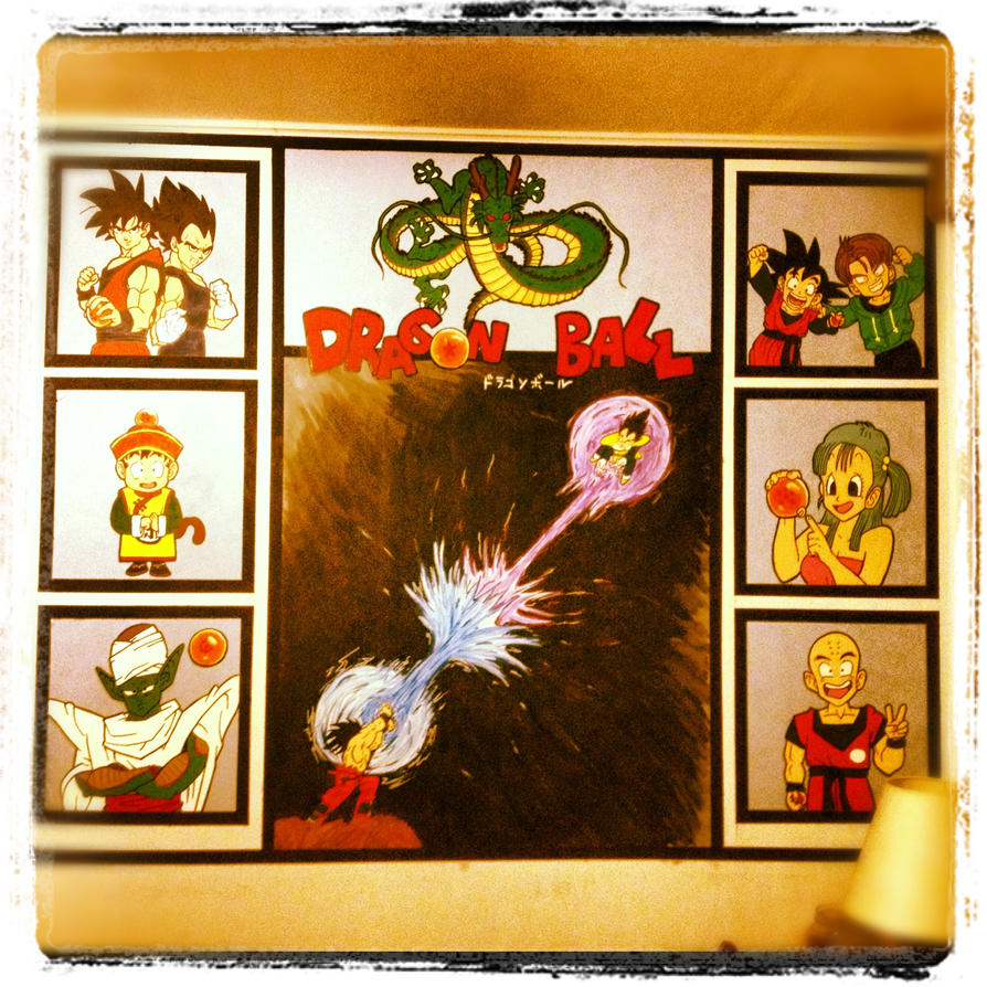 Dragon ball wall mural by dracogirl317 on deviantart for Dragon mural for wall