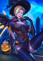 Happy Halloween from Mercy by EvaS0L0
