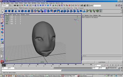 3D AlienHead MAYA -Untextured