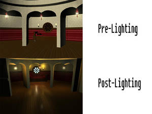 Room Before And After Lighting