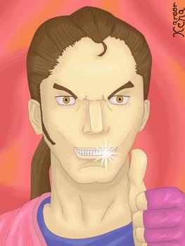 Dan Hibiki face from Street Fighter 4