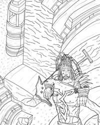 Jecht - Final Fantasy X lineart