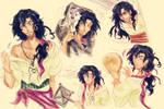 Colored sketch VER. - Esmeralda gender swap!