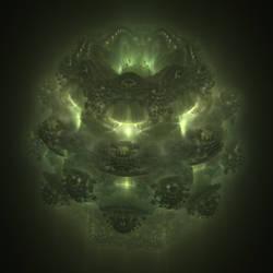 Green Mandelbulb by cab1n