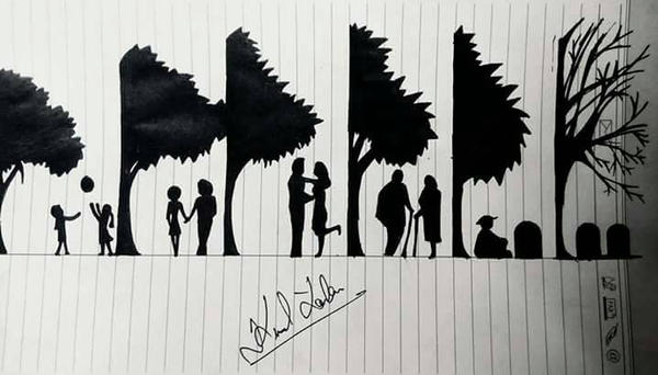 whole life in few part... draw by me by artistkunal