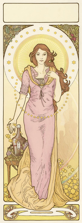 Art Nouveau Affiche by XIXDeviant