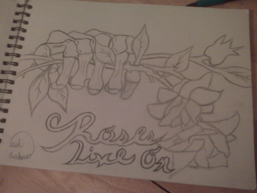 Skeleton hand holding roses by petlover7 on deviantart for Hand holding a rose drawing