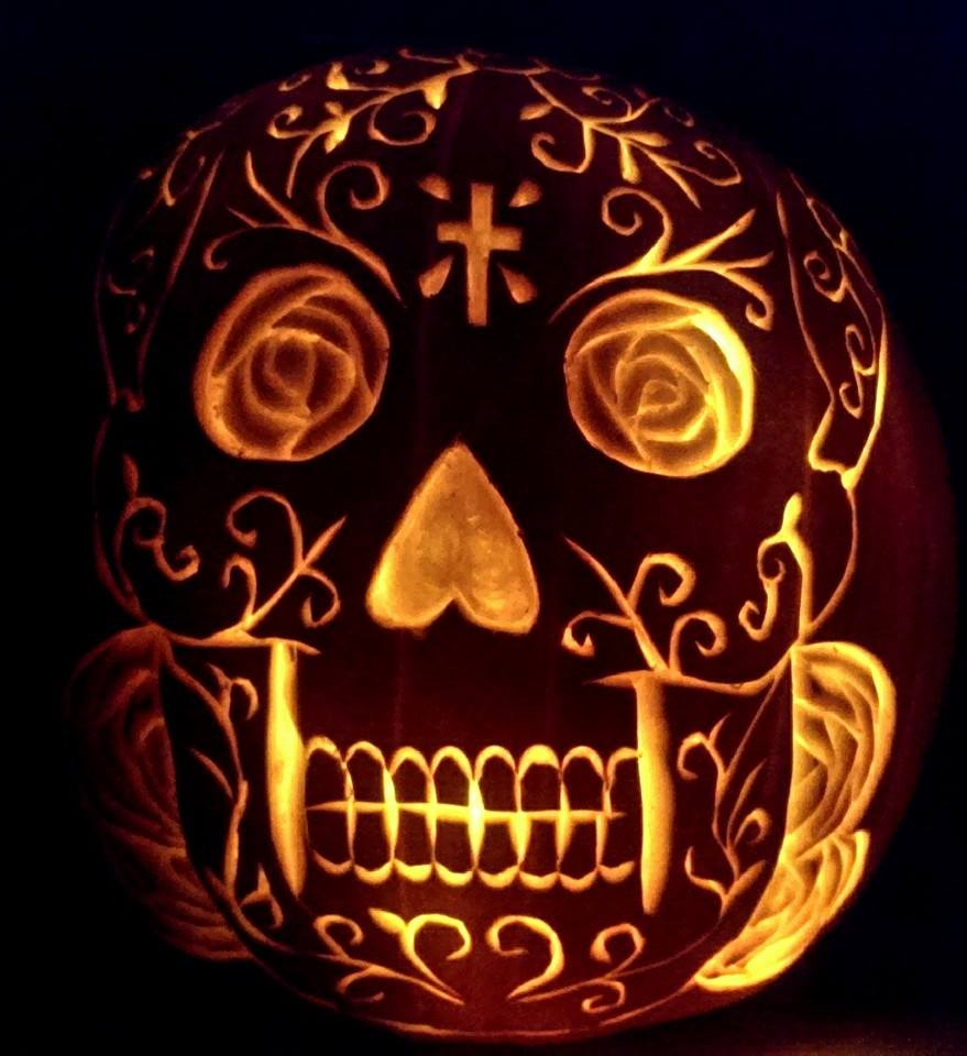 Sugar Skull Pumpkin by davidjoseortiz on DeviantArt