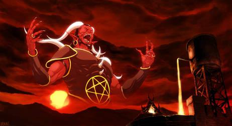 Screaming Devil in the skies by ValentrisRRock