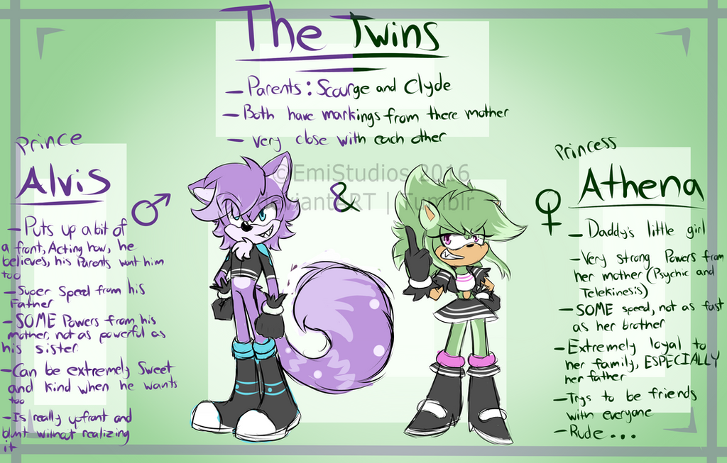 The Twins! - Reff Sheet! by EmiStudios