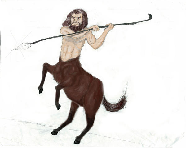 Centaur COLORED by ObsessiveSketch