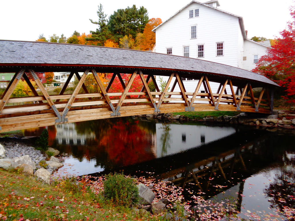 A lovely covered bridge near my siblings' school