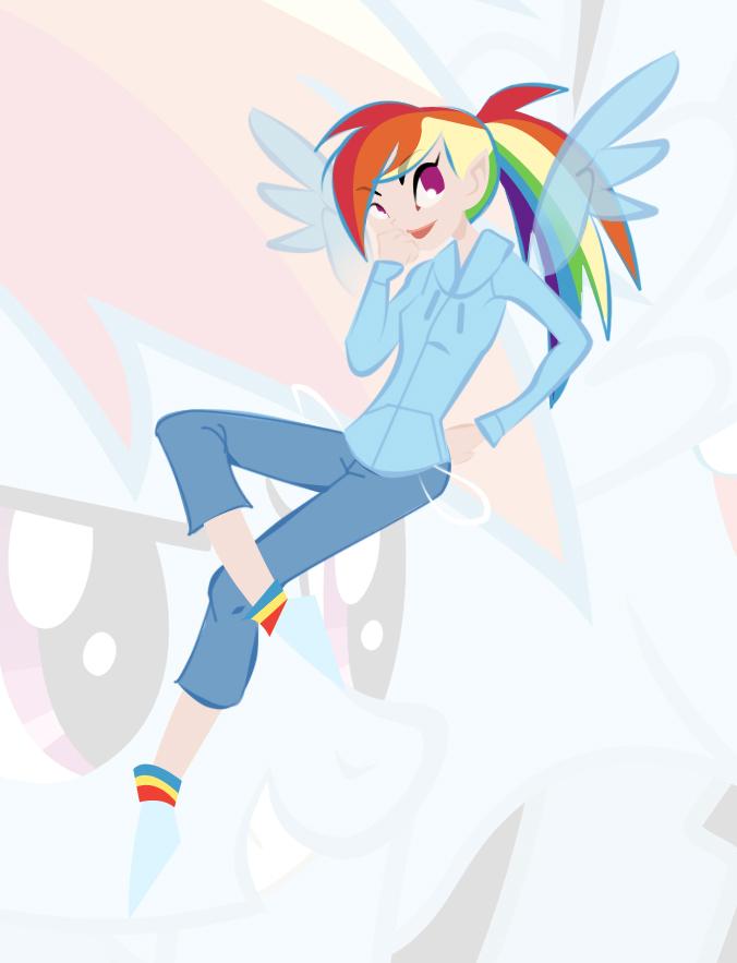 Rainbowdash by RaineKitty