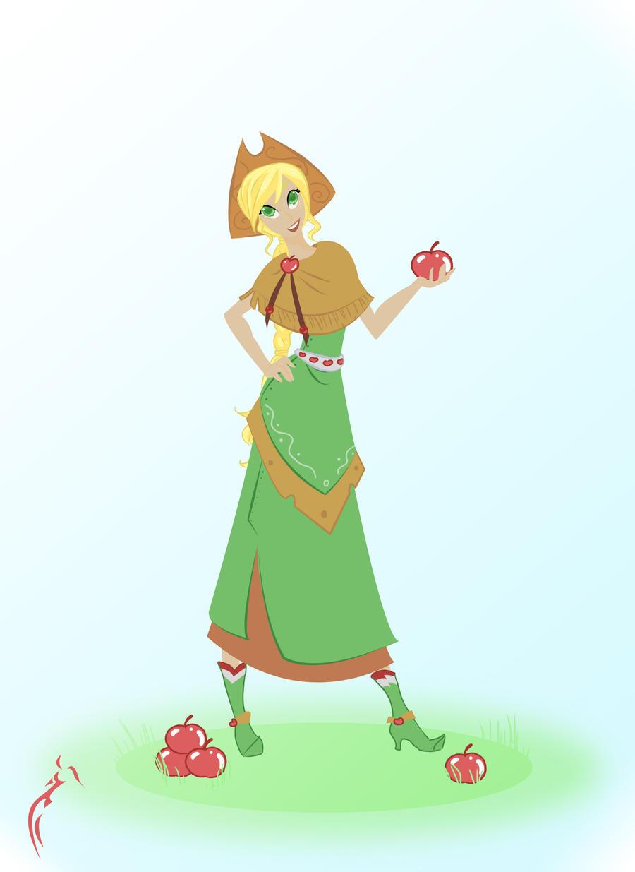 Applejack elegant apples by RaineKitty