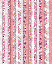Pink Bunny LuckyStar Paper by floritty