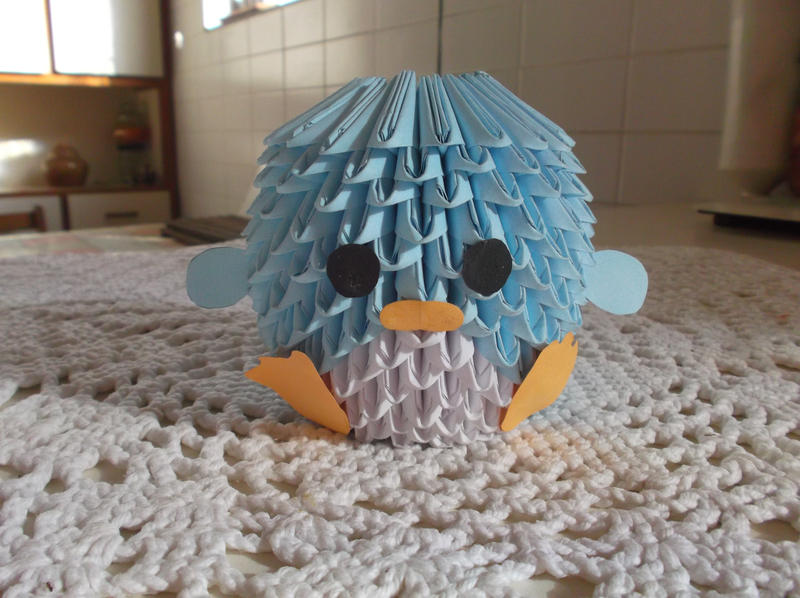 3D Origami Block Folding Penguin By WiKiwi