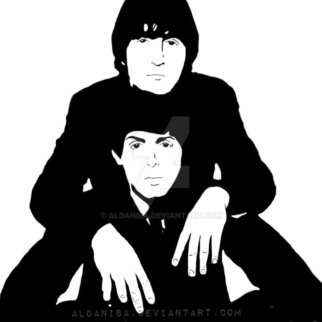 John Lennon And Paul Mccartney Fan Art By Aldanisa On Deviantart