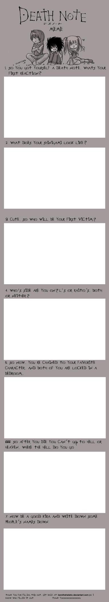: Death Note Meme : by KarolinaNoumenon