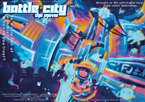 Battle City Double Page Poster