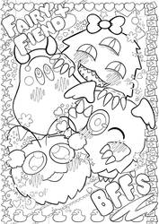 Fairy X Fiend Colouring Page