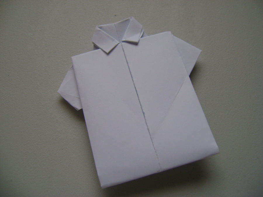 Paper Shirt Making - DIY Origami How To Make a Shirt With Color Paper | 675x900