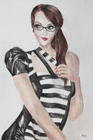 Latex Beetlejuice Dress by dragix