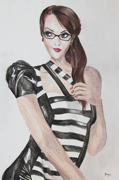 Latex Beetlejuice Dress