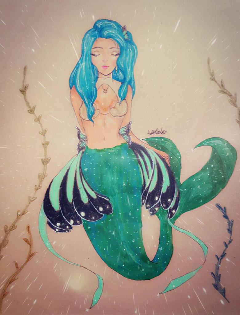 Butterfly Mermaid by pearlrange