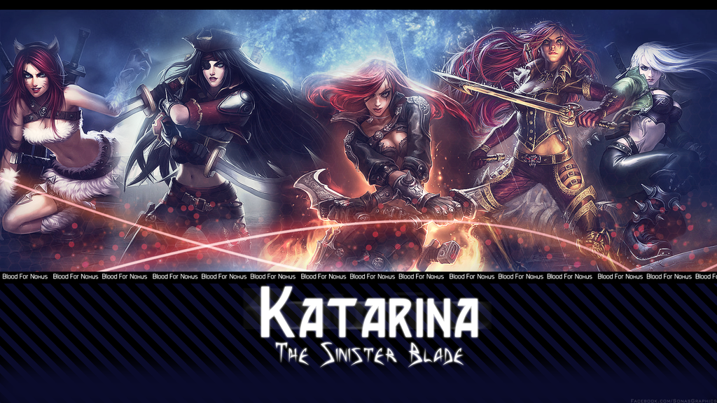League Of Legends Wallpaper Katarina By SonasGraphics