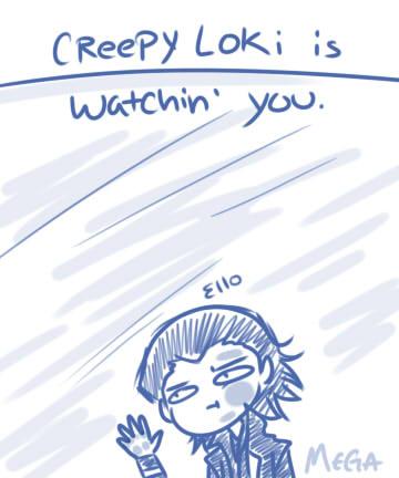 Creepy Loki by Megabeth94