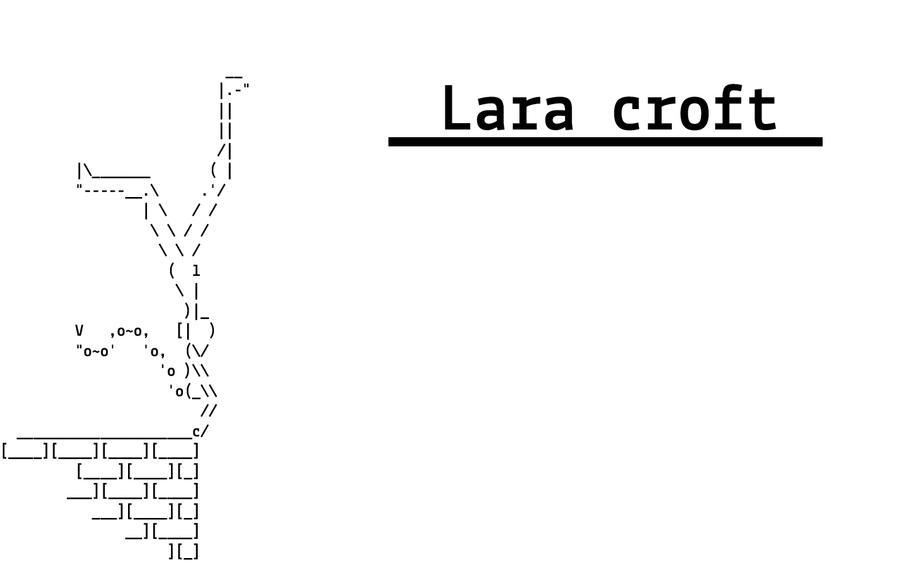 lara's famous back flip by razr310
