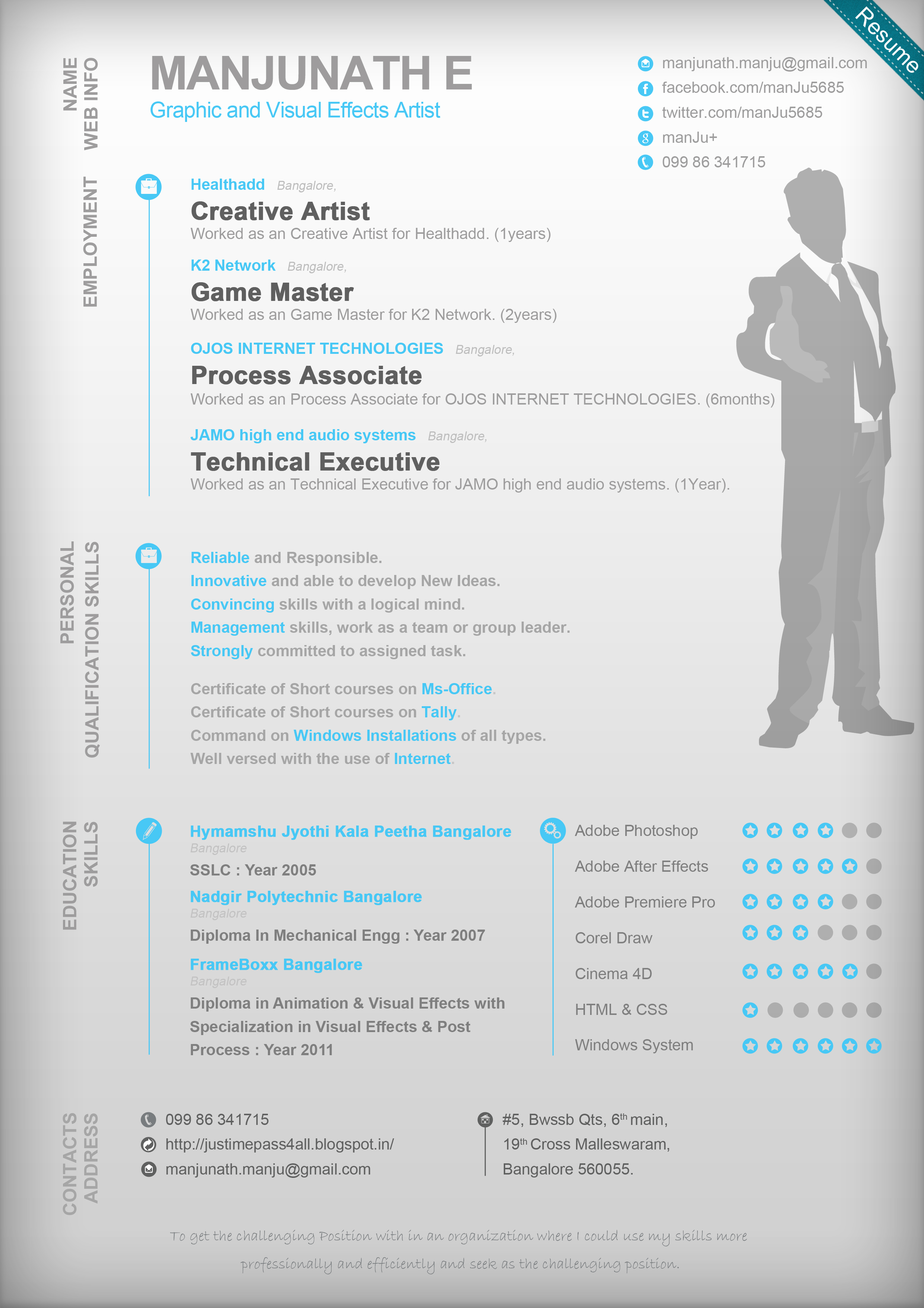 my resume graphic and visual effects artist by s0rdfish