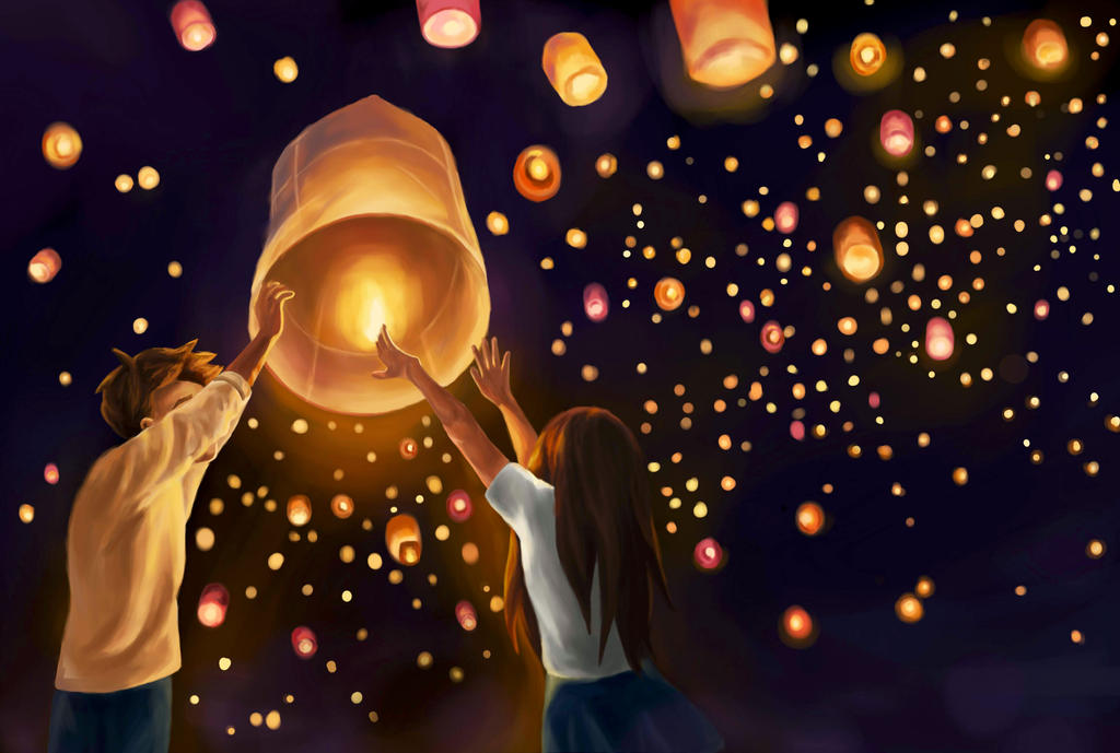 Wish Upon A Sky Lantern By Lulupapercranes
